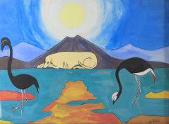λ Wilma Johnson (British b. 1960), 'Dog and Mountain'