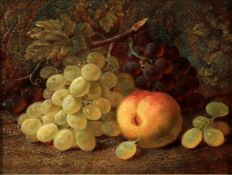 Follower of Vincent Clare, 'Still life of grapes and a peach'