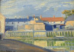 James Humphries Hogan (1883-1948), 'Houses by the harbour'