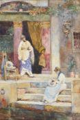 David Woodlock (British 1842-1929), 'Venetian lacemakers'