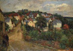 Johann Marx (German 1866-1933), 'A view at Neuweilnau'