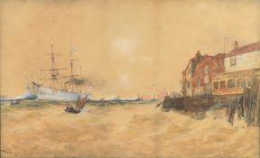 Thomas Bush Hardy (British 1842-1897), 'Portsmouth Harbour, 1891'