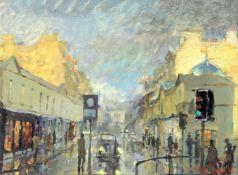 λ Peter Brown (British b. 1967), 'Street scene'