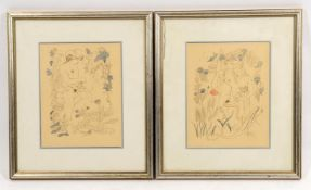 A pair of 20th century erotic prints