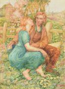 λ Noel Laura Nisbet (British 1887-1956), 'The Lovers'