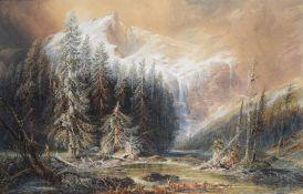 Percival Skelton (British fl.1849 - 1887), 'Val des Ormonds'