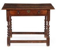 A WILLIAM & MARY WALNUT AND LINE INLAID SIDE TABLE, CIRCA 1690