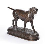 AFTER ALPHONSE ARSON (FRENCH, 1822-1880), A BRONZE FIGURE OF A POINTER DOG