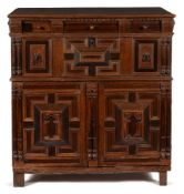 Y A CHARLES II OAK, ROSEWOOD AND SNAKEWOOD CHEST, CIRCA 1670