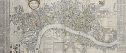 CARTOGRAPHY; BOWLES (THOMAS) A NEW & EXACT PLAN OF YE CITY OF LONDON AND SUBURBS THEREOF'