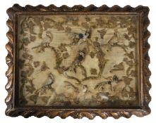 A CHARLES II STUMPWORK PANEL, CIRCA 1680