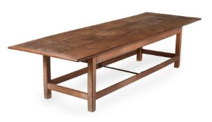 AN OAK REFECTORY TABLE, LATE 18TH CENTURY/EARLY 19TH CENTURY