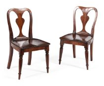 A PAIR OF GEORGE IV MAHOGANY CHILDS' CHAIRS, CIRCA 1825