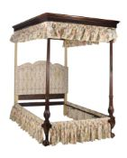 A MAHOGANY FOUR POST BED, IN GEORGE III STYLE