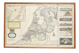 CARTOGRAPHY; MOLL (HERMAN) (1654-1732) 'A NEW AND EXACT MAP OF THE UNITED PROVINCES OR NETHERLANDS'