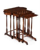 Y A NEST OF REGENCY ROSEWOOD QUARTETTO TABLES, CIRCA 1820