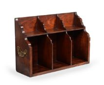 A GEORGE II MAHOGANY BOOK CARRIER, IN THE MANNER OF THOMAS CHIPPENDALE