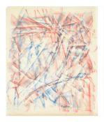 λ Bruce Tippett (British 1933-2017), Untitled (Red + Blue Abstract)