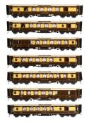 A very fine rake of seven Gauge 1 'The Queen of Scots' Pullman coaches built by Peter Rogers