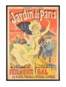 Jules Chéret (French, 1836-1932), Jardin de Paris Spectacle, Concert, Fête de Nuit, Bal