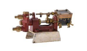 A model of a live steam driven Stuart Turner weir pump