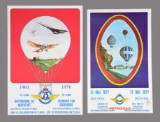 Aero Club, Balloon Meet Posters a group of two French posters. 1976-1977