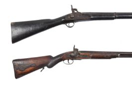 Two 19th century percussion cap rifles