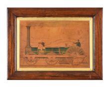 David Mitchell (mid-19th century English School), Crampton's Patent Locomotive