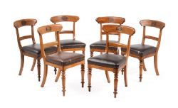 The Furness Railway Company (1846-1923) a matched set of 6 Victorian carved oak chairs