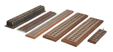 A collection 2 1/2 inch gauge model railway track