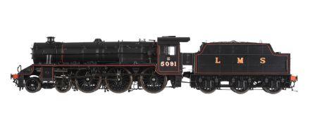 A gauge 1 Accucraft UK model of a Class 5MT Stanier 'Black 5' tender locomotive
