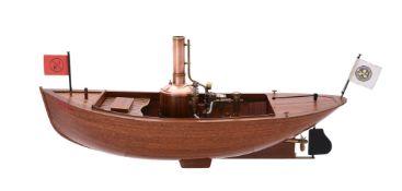 A well engineered model of the steam Launch 'SL Little Minn'