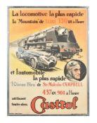 Jean Pillod (French, dates unknown), Castrol - Speed on Land Achievements