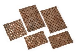 Five pieces of ships grating