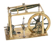 A mid 19th century model of a beam engine