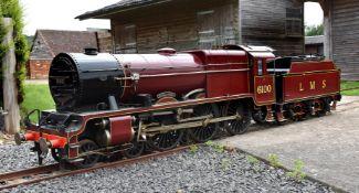 A 10 1/4 inch gauge model of the London Midland and Scottish tender locomotive 'Royal Scott'