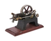 A small period air cooled side rod stationary engine