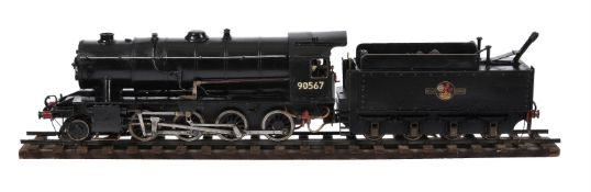 A 2 1/2 inch gauge model of a Riddles 2-8-0 Austerity Freight live steam tender locomotive