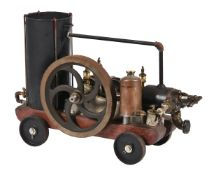 A well engineered model of a 'R & B' internal combustion petrol horizontal stationary engine. Built