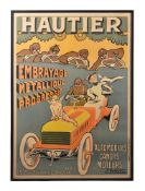 Ernest Montaut (French, 1879-1909), Hautier. Embrayage Métallique Automobiles Canots Moteurs