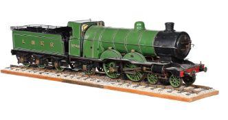 A 3 1/2 inch gauge model of a live steam 4-4-2 London North Eastern Railway Class C1 locomotive