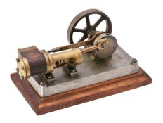A small well engineered model of a horizontal live steam mill engine