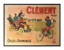 Louis Charles Bombled (French, 1862-1927), Clement Paris. Cycles and Automobiles