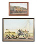 Edwin Thomas Rudd aka 'F Moore' (1861-1940), Stephenson's 'Rocket'
