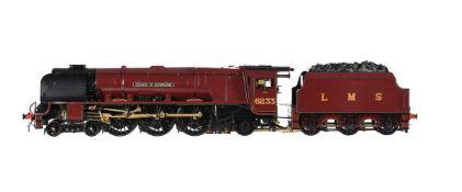 A gauge 1 Aster model of a London Midland and Scottish Princess Coronation Class locomotive