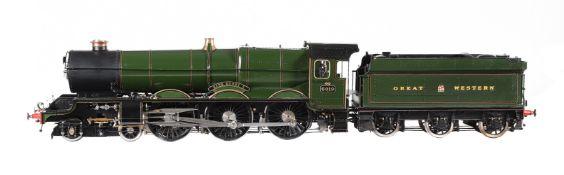 An exhibition standard 5 inch gauge model of the Great Western Railway 4-6-0 King Class tender locom