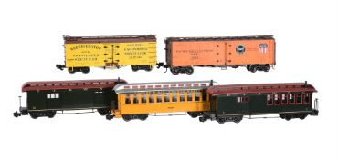 G Gauge American refrigerated box cars and passanger coaches
