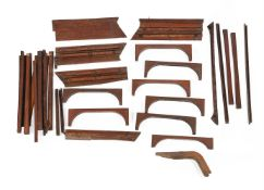 """A collection of sundry ship wooden fittings. Removed from """"MV Mastura"""" at Blyth in 1978."""