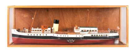 A cased static model of a Paddle Steamer 'Marchioness of Lorne' Glasgow