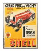 Georges Hamel (GEO HAM, French, 1810-1972), Grand Prix de Vichy 1934 1er Comte Trossi